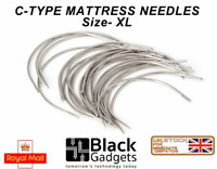 Pack of 25 Hand Sewing mattress Needles C Type Size XL  Curved Mattress UK STOCK