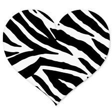 """Zebra Animal Print Heart car bumper sticker 4"""" x 4"""""""