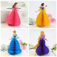 3D Pop Up Greeting Card Snow White Princess Cinderella Birthday Valentine Easter