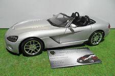 DODGE VIPER SRT 10 RT-10 Cabriolet gris 1/18 MAISTO voiture miniature collection