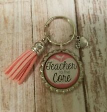 TEACHER to the Core  key chain!!!MUST SEE!!GREAT END IF YEAR GIFT.