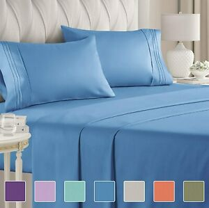 Simply Egyptian Comfort 🥇1800+ Thread Count 4pc Deep Pocket Soothing Bed Sheets