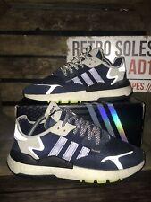 Adidas Originals Nite Jogger Trainers UK Size 9 Blue White EF2128