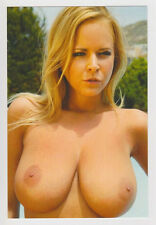 Postcard Nude Erotic Woman Topless Breast Sexy Busty Huge Boobs Post Card 5106