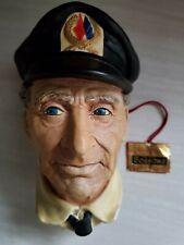 Bosson's English Chalkware Sea Captain Head W/Tag