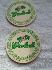 2 Grolsch vintage Beer Coaster