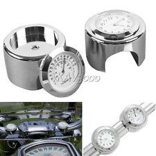 "7/8"" 1"" Handlebar Clock Thermometer Fits Honda VTX 1300 Goldwing GL 1500 1800"