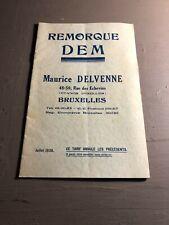 [8694 -B1] Remorque DEM - Delvenne Maurice - 1938
