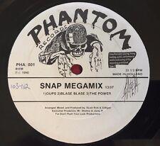 "SNAP! MEGAMIX (1990) NETHERLANDS 12"" PHANTOM RECORDS PHA 001 HIP HOP"