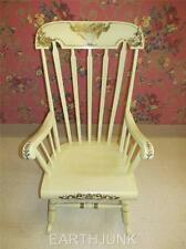 Tell City Boston Rocker 660 White & Gold Hand Decorated Stencils #72 Finish
