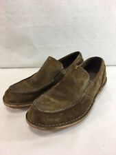 Clarks Shoes Loafers Mens 9 M Brown Suede Leather Slip On Comfort Casual
