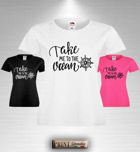 T-Shirt frasi ironiche marinaresche timone oceano barche estate slim uomo donna