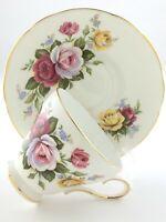 Vintage Teacup Saucer Royal Sutherland Staffordshire England Bone China T032