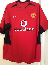 2002-04 Manchester United Nike VTG Authentic Premier League Jersey Rare Size L
