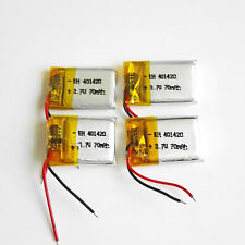 4 pcs 70mAh 3.7V lipo Polymer rechargeable Battery 401420 For Mp3 GPS bluetooth