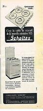 PUBLICITE ADVERTISING    1955   SCHOLTES    cuisinère