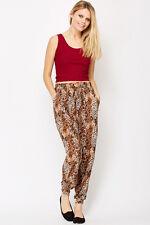 Womens Leopard Print Harem Stretchy Pants Size 8 - 12 Trousers