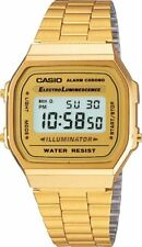 New Casio Gold A168WG-9 Digital Alarm Unisex Watch A168 / A168WG Eliminator