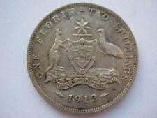 Australia 1912 Florin gf old limpieza