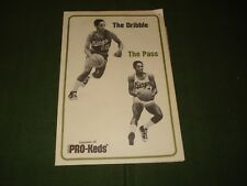 1972 PRO KEDS BASKETBALL NATE ARCHIBALD  DRIBBLE AND PASS  PROMOTIONAL BROCHURE