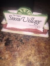 "DEPT. 56 "" SNOW VILLAGE SIGN "" { Snow Village series  } No Box"