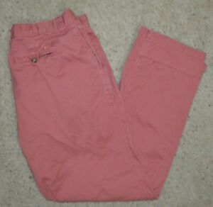 MOUNTAIN KHAKIS MK Red Relaxed Fit Pants Men's Size 36 x 32