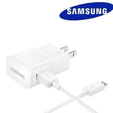 OEM Samsung Galaxy Note 4 5 S6 S7 Edge 2Amp Wall Charger+5Ft Micro USB Cable W