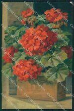 Geranium Flowers postcard cartolina QT5995