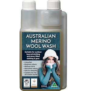 Australian made Merino Wool & Down Wash  shampoo 100 hand washes Merino Mark