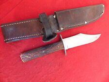 "W R Case & Sons pre 1920 jigged bone Bowie Case's Tested Xx 5"" blade knife"