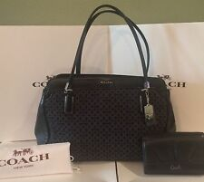 Coach Madison 25213 Kimberly Op Art Needlepoint Carryall Shoulder Bag & Wallet