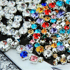 100pcs Mixed Size Sew On Glow Rhinestones Colors Mixed Shape Free P&P