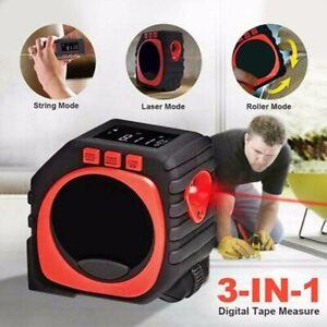 3-in-1 LED Digital Measure Tape Laser Distance Meter Measuring Tool Range Finder