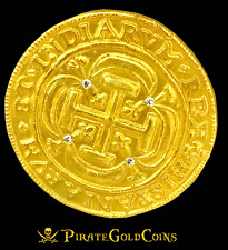 ROYAL DIAMONDS MEXICO 1715 FLEET 8 ESCUDOS GOLD PLT DOUBLOON TREASURE COIN