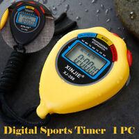Stoppuhr Stopp Uhr Stopuhr Digital Sport Timer Uhren Taschenuhr Gelb / Schwarz