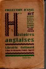 COLLECTION D ANAS  N° 5  HISTOIRES ANGLAISES  LEON  TREICH  1925  */*-