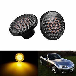 2x For Mazda MX5 MK1 MK2 MK3 Canbus LED Side Indicator Repeater Light Clear Lens