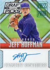 JEFF HOFFMAN 014 PRIZM DRAFT PICKS PRESS PROOF AUTOGRAPHED PROSPECT CARD 188/199