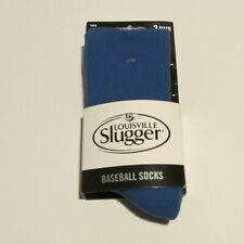 Louisville Slugger Youth Baseball Socks - 2 Pair - Blue - Youth Size 9-1 NEW