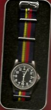 MILITARY WATCH COMPANY QUARTZ WRISTWATCH WITH ROYAL MARINES CORPS LONG STRAP ...