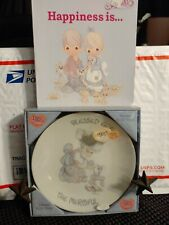 Precious Moments Collectables (Plate & Book)