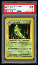 1999 Pokemon Game 54 Metapod Shadowless-PSA 9 MINT-Base Set