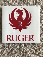 Ruger Decal Sticker Red Logo And Text