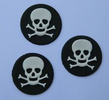 12 edible SKULL cake CUPCAKE topper DECORATION pirate POISON jolly roger HALLOWE