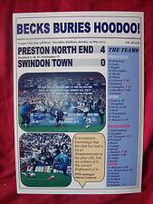 Preston North End 4 Swindon Town 0 - Preston promoted - 2015 - souvenir print