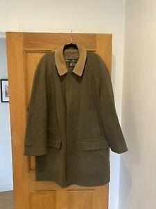 "Men's GRENFELL Green Wool Blend Check Tweed Jacket Coat Size 107cm 42"""
