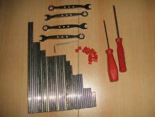 Märklin Metallbaukasten verschiedene Wellen und Werkzeuge + Klemmmuffen