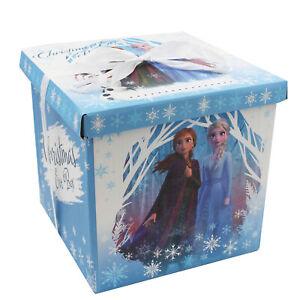 Disney Frozen 2 Christmas Eve 'Flat pack' Gift Box 27cm x 26.5cm x 27cm