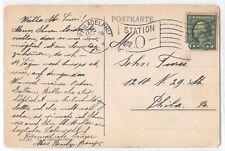 DPO 1900s Philadelphia PA Station O Flag Cancel Postal Cover 1895-1959 DPO