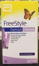 Abbott FreeStyle Optium Blood ß-Ketone Test Strips 30 strips (Int'l Shipping)